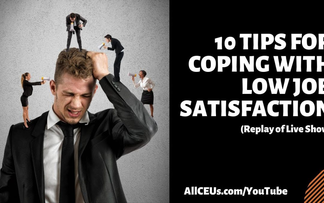 Replay of 4pm EST  Live Q & A with Dr. Dawn-Elise Snipes | Coping with Low Job Satisfaction